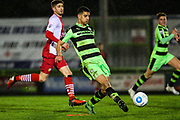 Forest Green Rovers Omar Bugiel(11) passes the ball during the Vanarama National League match between Forest Green Rovers and Solihull Moors at the New Lawn, Forest Green, United Kingdom on 21 March 2017. Photo by Shane Healey.
