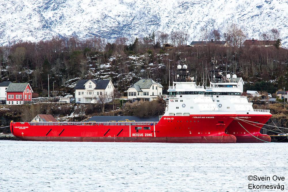 Volstad Viking og Volstad Supplier fra Volstad Shipping ligger i opplag i Ålesund under oljekrisen 2016.<br /> Foto: Svein Ove Ekornesvåg