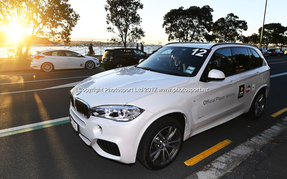BMW official vehicle at the players party. ASB Classic WTA Womens Tournament. Auckland, New Zealand. Sunday 1 January 2017. © Copyright photo: Andrew Cornaga / www.photosport.nz