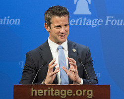 June 27, 2017 - Washington, DC, U.S - Congressman ADAM KINZINGER speaking at a Heritage Foundation talk on ''After the ISIS Flag Falls: The Future of Mosul and Iraq'' in Washington, DC on June 27 2017. (Credit Image: © Michael Brochstein via ZUMA Wire)