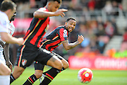 AFC Bournemouth forward Callum Wilson makes a run on a Bournemouth attack during the Barclays Premier League match between Bournemouth and Liverpool at the Goldsands Stadium, Bournemouth, England on 17 April 2016. Photo by Graham Hunt.