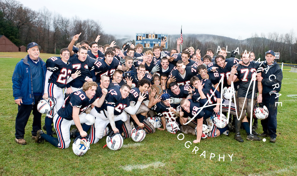 Plymouth Regional High School football team, 2008 Champions.  (Alan MacRae/for the Citizen)