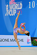 García Natalia Timofeeva during qualifying at ball in Pesaro World Cup 10 April 2015. Natalia is a Spanish rhythmic gymnastics athlete born in Barcelona Spain on  August 5, 1994.