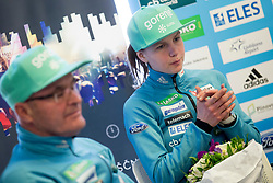 Ema Klinec during press conference before FIS Ski World Cup Ladies competition in Ljubno 2018 on January 24, 2018 in BTC, Ljubljana, Slovenia. Photo by Urban Urbanc / Sportida