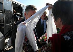 KATHMANDU, NEPAL - NOV-04-2006 - Karel De Gucht, Belgian Minister of Foreign Affairs arrives at Kathmandu Airport in Nepal.