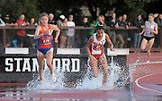 May 2, 2019; Stanford, CA, USA; Allie Ostrander (279) of Boise State defeats Adva Cohen (65) of New Mexico to win the women's steeplechase, 9:45.66 to 9:45.71, during the 24th Payton Jordan Invitational at Cobb Track & Angell Field.
