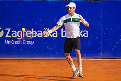 Roberto Bautista-Agut (ESP) during a tennis match against the Joao Sousa (POR) in semi-final round of singles at 26. Konzum Croatia Open Umag 2015, on July 25, 2015, in Umag, Croatia. Photo by Urban Urbanc / Sportida