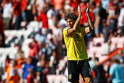 Rudy Gestede of Aston Villa celebrates winning their opening game - Mandatory by-line: Jason Brown/JMP - Mobile 07966 386802 08/08/2015 - FOOTBALL - Bournemouth, Vitality Stadium - AFC Bournemouth v Aston Villa - Barclays Premier League - Season opener