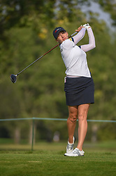 August 23, 2018 - Regina, SK, U.S. - REGINA, SK - AUGUST 23: Sarah Jane Smith (AUS) watches her tee shot on 5 during the CP Women's Open Round 1 at Wascana Country Club on August 23, 2018 in Regina, SK, Canada. (Photo by Ken Murray/Icon Sportswire) (Credit Image: © Ken Murray/Icon SMI via ZUMA Press)