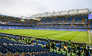General view inside Stamford Bridge stadium ahead of the FA Cup 5th round match between Chelsea and Manchester United at Stamford Bridge, London, England on 18 February 2019.
