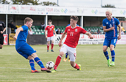 RHYL, WALES - Saturday, September 2, 2017: Wales' Jack Vale during an Under-19 international friendly match between Wales and Iceland at Belle Vue. (Pic by Gavin Trafford/Propaganda)