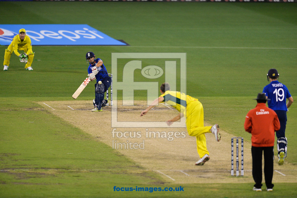 James Taylor of England bats during the 2015 ICC Cricket World Cup match at Melbourne Cricket Ground, Melbourne<br /> Picture by Frank Khamees/Focus Images Ltd +61 431 119 134<br /> 14/02/2015