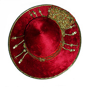 Silk and gold threaded cardinals cap/hat of Cardinal Alfrink (1900-1987), Archbishop of Utrecht