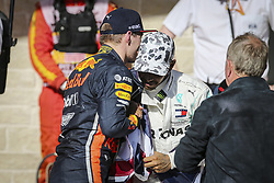 November 3, 2019, Austin, United States of America: Motorsports: FIA Formula One World Championship 2019, Grand Prix of United States, ..#33 Max Verstappen (NLD, Aston Martin Red Bull Racing), #44 Lewis Hamilton (GBR, Mercedes AMG Petronas Motorsport) (Credit Image: © Hoch Zwei via ZUMA Wire)