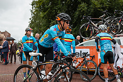 Kaat Hannes of National Team Belgium before the sign-on at the Holland Ladies Tour, Zeddam, Gelderland, The Netherlands, 1 September 2015.<br /> Photo: Pim Nijland / PelotonPhotos.com