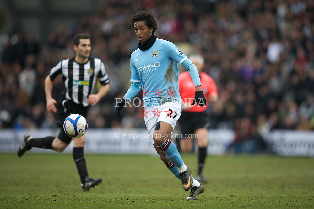 NOTTINGHAM, ENGLAND - Sunday, January 30, 2011: Manchester City's Jo Silva in action against Notts County during the FA Cup 4th Round match at Meadow Lane. (Photo by David Rawcliffe/Propaganda)