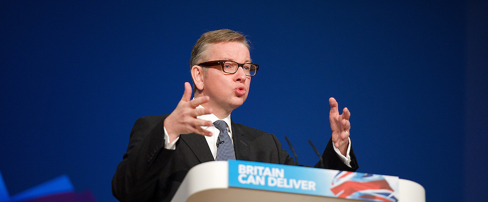 Conservative Party Conference, ICC, Birmingham, Great Britain <br /> Day 4<br /> 9th October 2012 <br /> <br /> Rt Hon Michael Gove MP <br /> Education minister <br /> <br /> <br /> Rt Hon Jeremy Hunt MP <br /> Health minister <br /> <br /> <br /> <br /> <br /> Photograph by Elliott Franks<br /> <br /> United Kingdom<br /> Tel 07802 537 220 <br /> elliott@elliottfranks.com<br /> <br /> ©2012 Elliott Franks<br /> Agency space rates apply