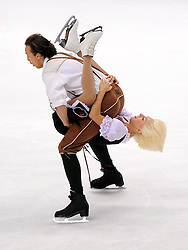 25.03.2010, Torino Palavela, Turin, ITA, ISU World Figure Skating Championships Turin 2010, im Bild, Paarlauf Kira Geil and Dmitri Matsjuk (AUT). EXPA Pictures © 2010, PhotoCredit: EXPA/ InsideFoto/ Perottino / SPORTIDA PHOTO AGENCY