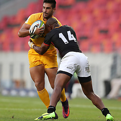 Jeronimo De la Fuente of the Jaguares tackled by Makazole Mapimpi of The Southern Kings during the Super Rugby match between the Southern Kings and the Jaguares at the Nelson Mandela Bay Stadium,Port Elizabeth,South Africa, February 25th 2017 -<br /> (Credit Steve Haag UAR)<br /> Cr&eacute;dito: Steve Haag - UAR