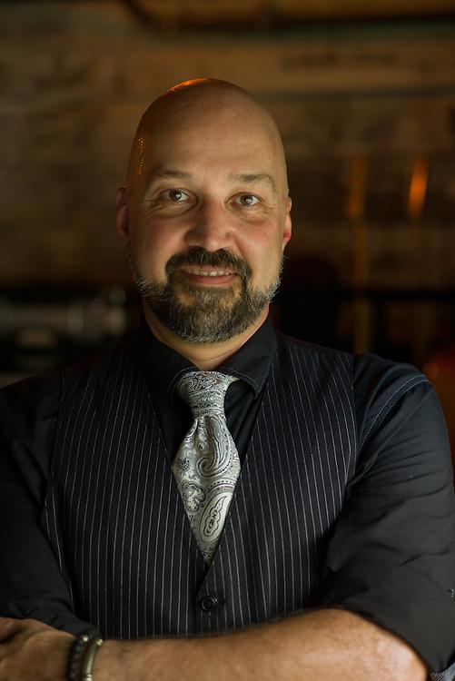 Tom Van Schaik, photographed at Gruene Hall in New Braunfels, Texas on October 10 2014.