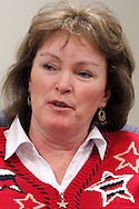 Kelly Kohls of Springboro during a roundtable discussion of the Republican debate in Arizona, Wednesday, February 22, 2012.
