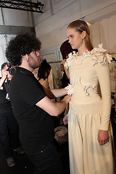 Designer for tomorrow backstage Designer Leandro Cano during the Mercedes-Benz Fashion Week, in Berlin, Germany,  January 14, 2013. Photo by Imago / i-Images...UK ONLY