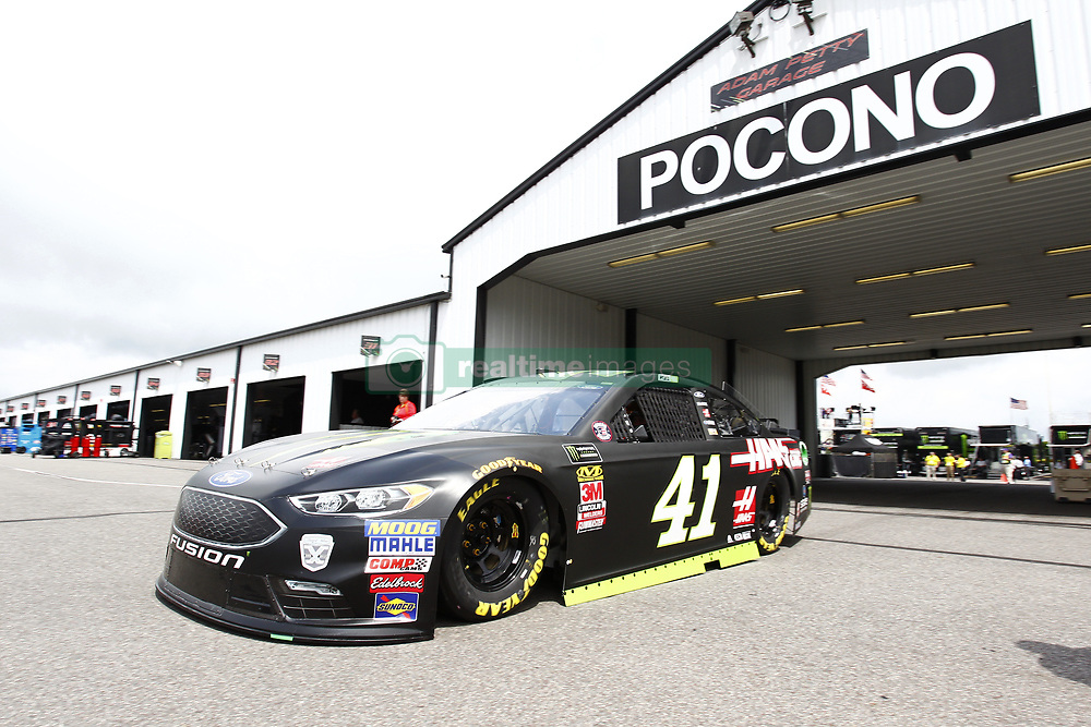 June 1, 2018 - Long Pond, Pennsylvania, United States of America - Kurt Busch (41) takes to the track to practice for the Pocono 400 at Pocono Raceway in Long Pond, Pennsylvania. (Credit Image: © Justin R. Noe Asp Inc/ASP via ZUMA Wire)