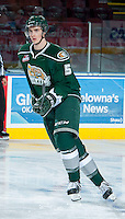 KELOWNA, CANADA - JANUARY 22: Ben Betker #5 of the Everett Silvertips skates during warm up against the Kelowna Rockets on January 22, 2014 at Prospera Place in Kelowna, British Columbia, Canada.   (Photo by Marissa Baecker/Getty Images)  *** Local Caption *** Ben Betker;