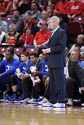 20 January 2017:  Greg Lansing during an NCAA Missouri Valley Conference mens basketball game Where the Purple Aces of Evansville lost to the Illinois State Redbirds 75-73 in Redbird Arena, Normal IL