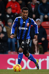 Swindon's Nathan Byrne  - Photo mandatory by-line: Mitchell Gunn/JMP - Tel: Mobile: 07966 386802 22/02/2014 - SPORT - FOOTBALL - Brisbane Road - Leyton - Leyton Orient V Swindon Town - League One