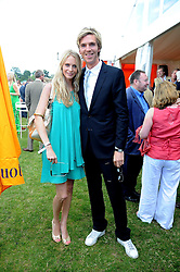 POPPY DELEVIGNE and JAMES COOK at the 2008 Veuve Clicquot Gold Cup polo final at Cowdray Park Polo Club, Midhurst, West Sussex on 20th July 2008.<br /> <br /> NON EXCLUSIVE - WORLD RIGHTS