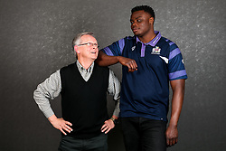 Ehize Ehizode of Bristol Rugby poses with his sponsors during the Bristol Sport player sponsor evening - Rogan/JMP - 19/03/2018 - SPORT - Ashton Gate Stadium - Bristol, England - Big Sports Breakfast 2017.