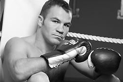 Slovenia's top professional boxer Dejan Zavec, on September 29, 2009, in Ptuj, Slovenia. (Photo by Vid Ponikvar / Sportida)..