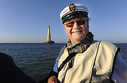 File photo - EXCLUSIVE. Denmark's Prince Henrik aboard royal yacht 'Dennebrog' after his visit to Cordouan Lighthouse (in the background), off Royan, western France on August 27, 2008. Cordouan is the oldest lighthouse in France, it is very large and very ornate, and was made a historical monument in 1862, at the same time as Notre-Dame de Paris. The first Fresnel lens used in a lighthouse was installed here in 1823, to be replaced by the present lens in 1854. It is located 7 km at sea, near the mouth of the Gironde estuary in France. Prince Henrik, the French-born husband of Denmark's Queen Margrethe II, has died, the palace announced Wednesday. He was 83. Photo by Patrick Bernard/ABACAPRESS.COM