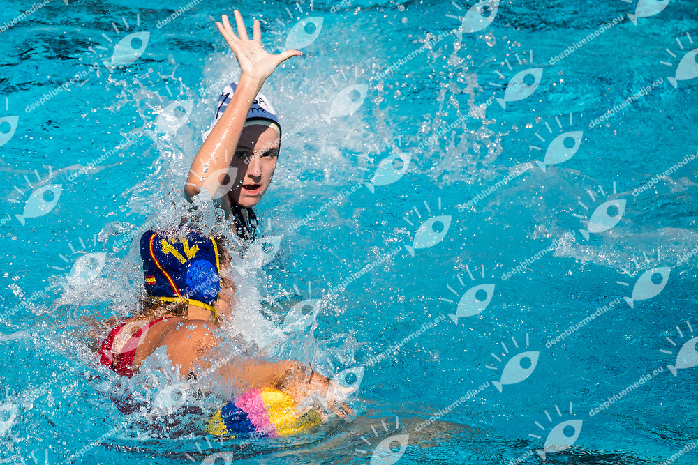 USA (white cap) -  ESP (blue cap)<br /> Preliminary Round Water Polo Women<br /> Day05  18/07/2017 <br /> XVII FINA World Championships Aquatics<br /> Alfred Hajos Complex Margaret Island  <br /> Budapest Hungary <br /> Photo @ Deepbluemedia/Insidefoto