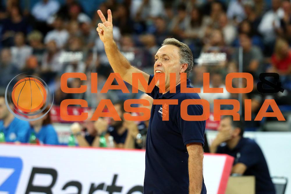 Piero Bucchi<br /> Consultinvest VL Pesaro - Germani Basket Brescia<br /> Lega BasketSerie A 2016/2017<br /> Pesaro 02/10/2016