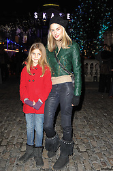 DONNA AIR and her daughter FREYA ASPINALL at Skate presented by Tiffany & Co at Somerset House, London on 22nd November 2010.