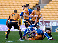 Photo: Ed Godden/Sportsbeat Images.<br />Wolverhampton Wanderers v Cardiff City. Coca Cola Championship. 20/01/2007. Cardiff's Michael Chopra is brought down in the area but no penalty is given.