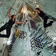 The largest wine rack ever made at Radisson Hotel,Stansted,Essex..