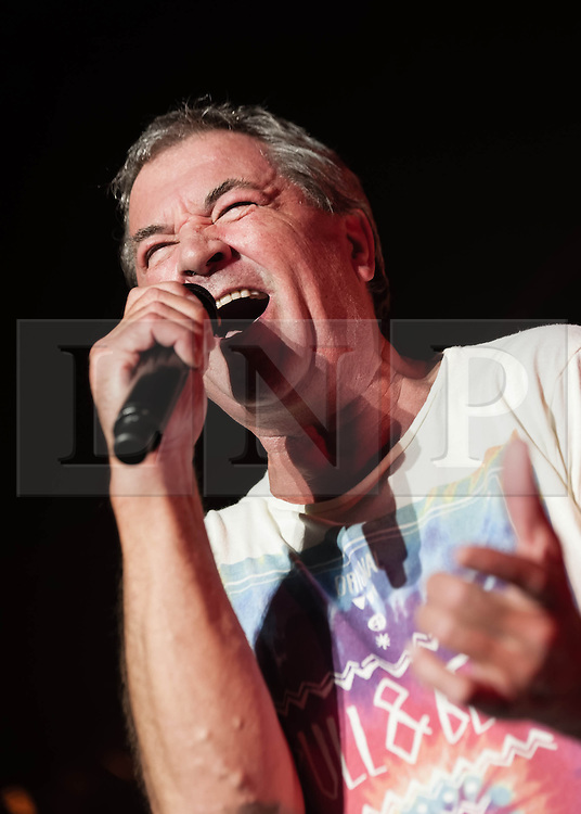 © Licensed to London News Pictures. 16/10/2013. London, UK.   Deep Purple performing live at The Roundhouse. Deep Purple consist of members Ian Paice (drums, percussion),<br /> Roger Glover (bass),Ian Gillan (vocals),Steve Morse (guitar), Don Airey (organ).  In this pic - Ian Gillan.  Photo credit : Richard Isaac/LNP