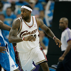 01 November 2008: Cleveland Cavaliers forward LeBron James (23) in action  during a 104-92 win by the New Orleans Hornets over the Cleveland Cavaliers at the New Orleans Arena in New Orleans, LA..