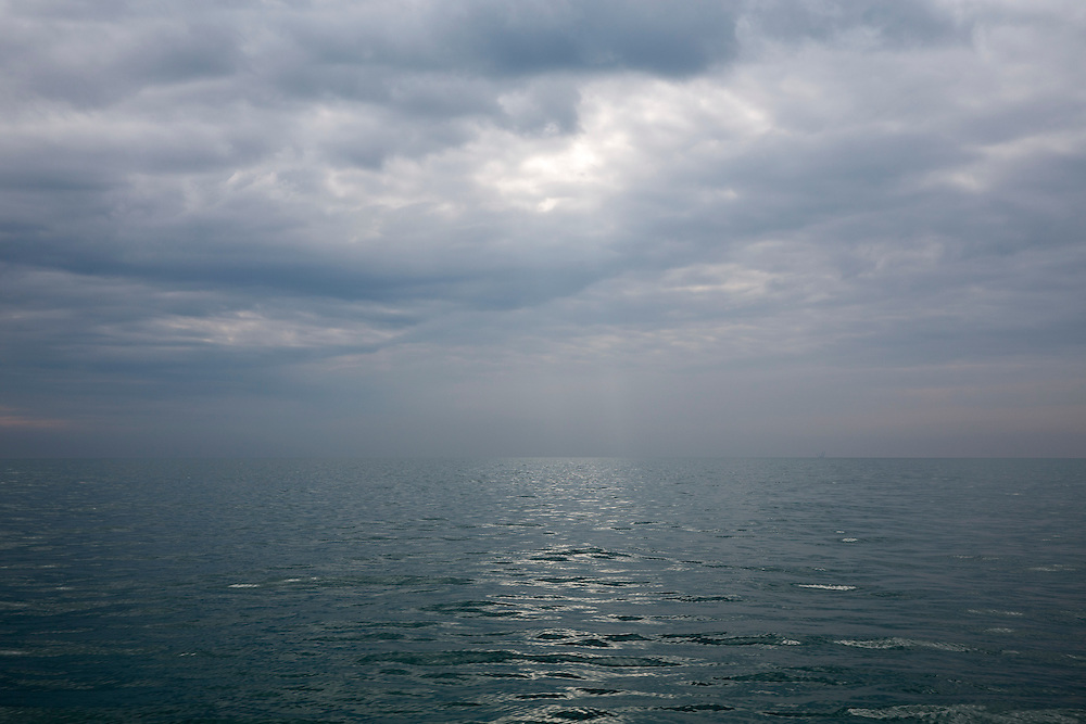 The English Channel looking towards Calais, France, on a cloudy and misty day form Folkestone, Kent, England, United Kingdom. (photo by Andrew Aitchison / In pictures via Getty Images)