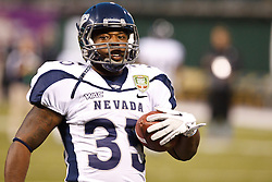 January 9, 2011; San Francisco, CA, USA;  Nevada Wolf Pack running back Courtney Randall (35) warms up before the 2011 Fight Hunger Bowl against the Boston College Eagles at AT&T Park. Nevada defeated BC 20-13.