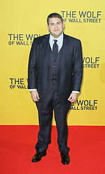 © Licensed to London News Pictures. 09/01/2014, UK. Jonah Hill, The Wolf of Wall Street - UK film premiere, Odeon Leicester Square, London UK, 09 January 2014. Photo credit : Richard Goldschmidt/Piqtured/LNP