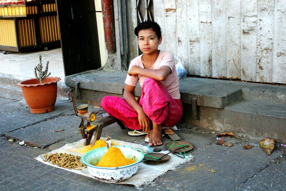 Yangon streets, Myanmar.