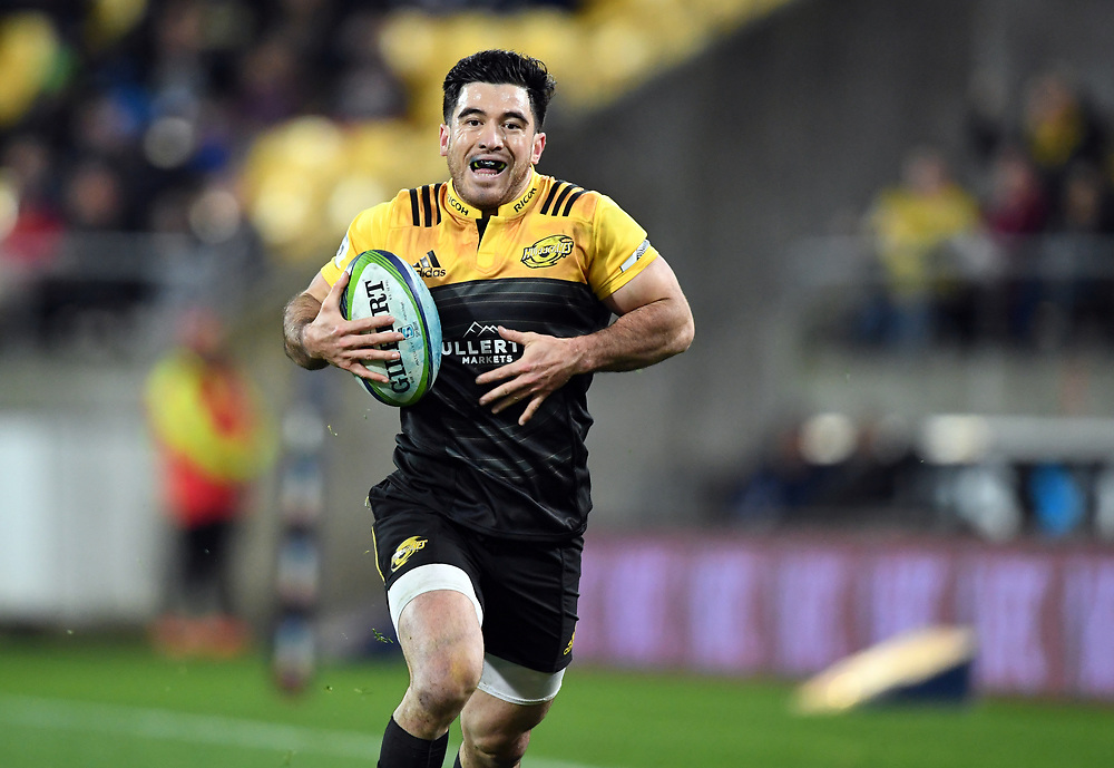 Hurricanes Nehe Milner-Skudder against the Crusaders in Super Rugby match at Westpac Stadium, Wellington, New Zealand, Saturday, July 15, 2017. Credit:SNPA / Ross Setford  **NO ARCHIVING""