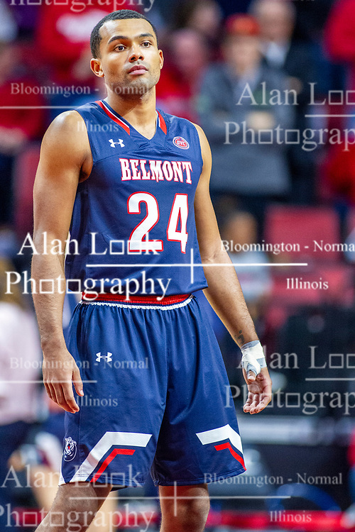 NORMAL, IL - November 06:  Michael Benkert during a college basketball game between the ISU Redbirds and the Belmont Bruins on November 06 2019 at Redbird Arena in Normal, IL. (Photo by Alan Look)