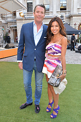 RORY & BENJAMA FLEMING at the annual Royal Academy of Art Summer Party held at Burlington House, Piccadilly, London on 4th June 2014.