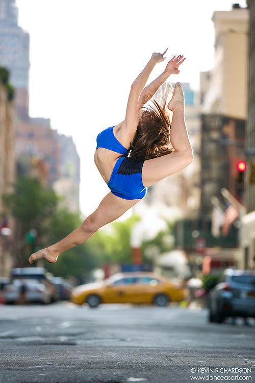 Dance As Art The New York City Photography Project Yellow Taxi Street Series with dancer Sydney Barone.