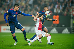 24-05-2017 SWE: Final Europa League AFC Ajax - Manchester United, Stockholm<br /> Finale Europa League tussen Ajax en Manchester United in het Friends Arena te Stockholm / Amin Younes #11 of Ajax, Antonio Valencia&nbsp;(C) #20 of Manchester United, Chris Smalling #20 of Manchester United